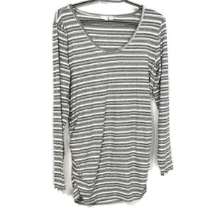Gap Maternity Long Sleeved Striped Top L